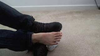 Male Feet In New Boots