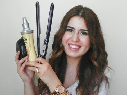 Düzleştirici ile Dalgalı Saç Modeli