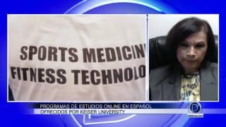 Sandra Porta Merida, explica los cursos en español que ofrece Keiser University