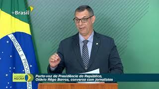 Porta-Voz, Otávio Rêgo Barros, fala com a imprensa