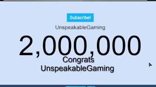 UnspeakableGaming 2 Million Subscribers LIVE!
