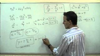 Imagen en miniatura para Ecuación reducida - Hipérbola