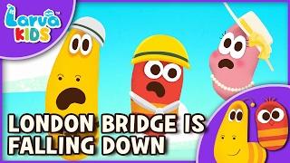 [Nursery Rhyme]  London Bridge is Falling Down - English - Larva KIDS song