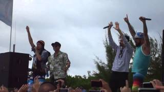 "The Backstreet boys dancing ""starships"" #BSBCRUISE2013 Beach party"