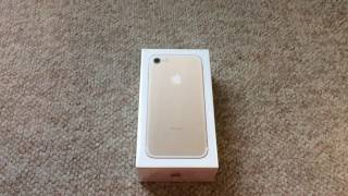 Unboxing iphone 7 (Gold Verison) No talking