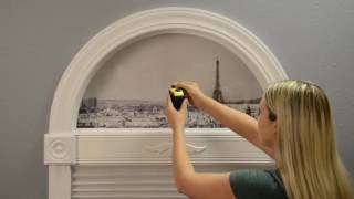 Measure Simple Stick Arch Shades Inside Mount by Redi Shade