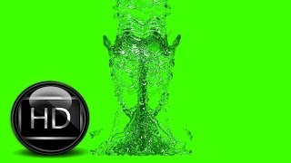 water in green screen free stock footage 280,400 particles (HD)