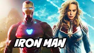 Captain Marvel Iron Man Avengers Scene Easter Egg Explained width=