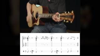 Learn Percussion Guitar - Lesson 03 - DEMO with TAB