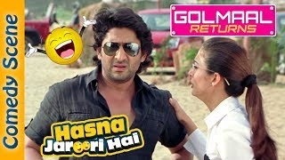 Arshad Warsi Best Comedy Scene - Hasna Zaroori Hai - Golmaal Returns - Indian Comedy width=