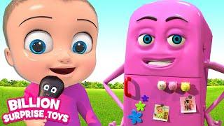 Johny Johny Song REFRIGERATOR Version | Baby 3D Nursery Rhyme & Kids Songs