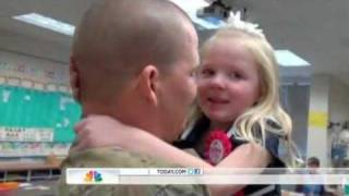 STUNNING VIDEO - Soldier Surprises Daughter, 6, on Birthday!