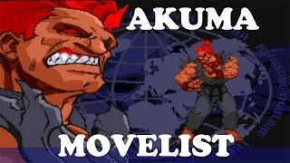 Street Fighter Alpha 3 - Akuma Move List