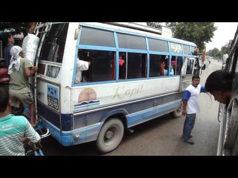 Bus Tansen to Lumbini via Bhairahawa, Nepal – part 1