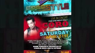 CORO LIVE ON STAGE AT MARTINI BAR & GRILL IN MIAMI LAKES SATURDAY APRIL 21