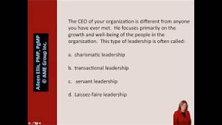 PMP® Exam Leadership styles with Aileen Ellis