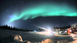 Northern Lights (Aurora Borealis), GoPro Hero 4 - Camp Alta, Kiruna