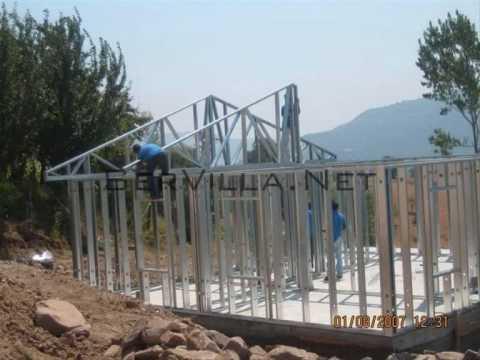 100 m2 Çelik Konstrüksiyon Villa Yapım Aşamaları