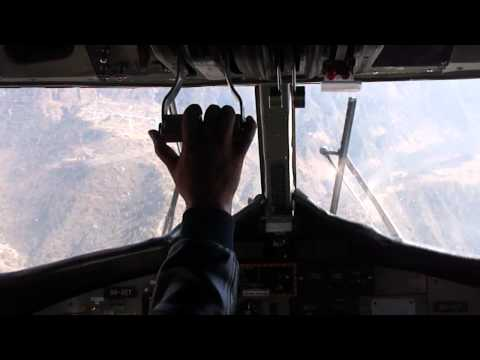 Lukla Airport Approach and Landing In Nepal…
