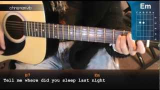 "Cómo tocar ""Where did you sleep last night"" de Nirvana en guitarra (HD) Acordes - Christianvib"