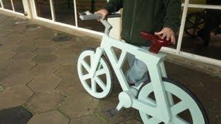 How to make a cardboard bike width=