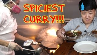 The SPICIEST Curry in The WORLD Challenge! Carolina Reapers!! width=