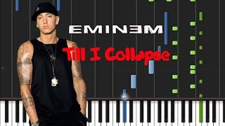 Eminem - Till I Collapse [Synthesia Tutorial]