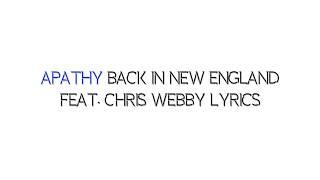 Apathy Back In New England Feat  Chris Webby Lyrics