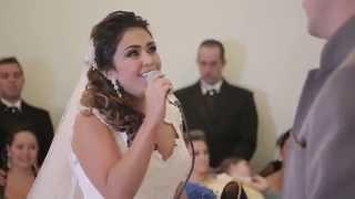 Noiva canta para noivo
