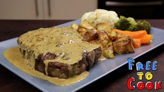 How to Cook Creamy Pepper Sauce for a Scotch Fillet Steak (Sauce au Poivre)