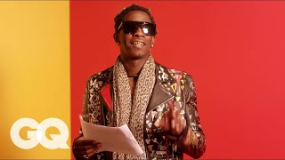 """Young Thug Reads the Lyrics to Song """"Best Friend"""" So You Can Actually Understand Them. Kind Of"""