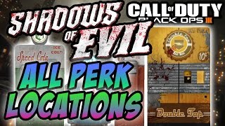"Black Ops 3: Shadows Of Evil ""ALL PERK LOCATIONS"" (COD BO3 Zombies)"