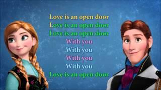 Love is an open door karaoke