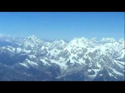 FLIGHT TO MOUNT EVEREST FROM KATHMANDU, NEPAL.