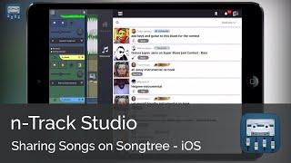 Sharing your song on Songtree || n-Track Studio iOS Tutorial Series (Beginners)