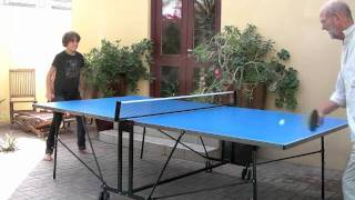 Speed Ping Pong game - France v England - from Dubai