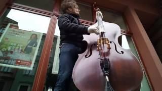 """I feel you"" Depeche Mode (cover) by Tomasz Krzemiński double bass & whistle"