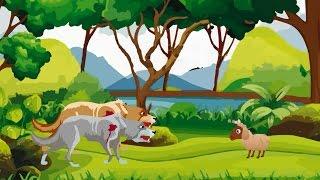Cartoon Kahani | Bher Ka Bacha Aur Bheriye | Urdu Cartoon Kahani for Kids