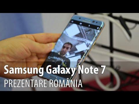 Samsung Galaxy Note 7 prezentare video de la lansarea din România