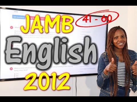 JAMB CBT English 2012 Past Questions 41 - 60
