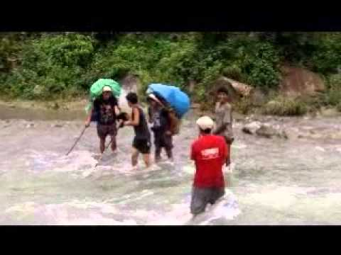 River Crossing Great Himalaya Trail Nepal