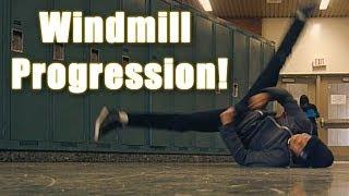 Bboy Windmill Progression width=
