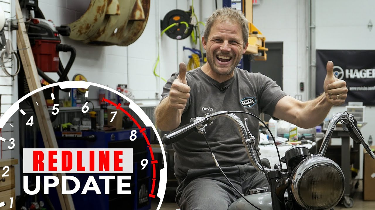 Davin repairs The Fonz's Triumph TR5