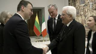 Mattarella incontra il Presidente della Repubblica di Lituania, S.E. il Signor Gitanas Nausėda