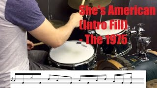 She's American (Intro Fill) Drum Tutorial - The 1975