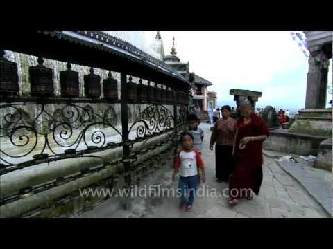 Kora at Swayambhunath Stupa Kathmandu Nepal