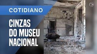IMAGENS MOSTRAM PARTE DO MUSEU NACIONAL APÓS O INCÊNDIO