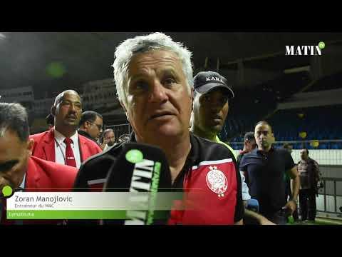 Video : Zoran Manojlovic satisfait de la victoire du WAC