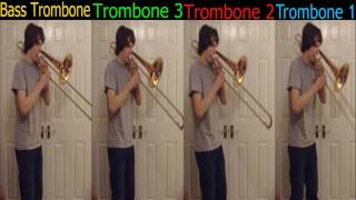 Ain't no rest for the Wicked Trombone Quartet (Multitracking) arr.Christopher Bill