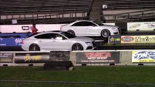 Audi RS7 vs S8 1/4 Mile Drag Races